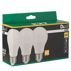 ES GLS LED LIGHT BULB 470LM 5.8W 3 PACK at Screwfix for £1.39