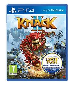 PlayStation Sony Knack 2 (Includes free download of That's You) - PS4 £14.99 prime /  £16.98 non prime @ Amazon