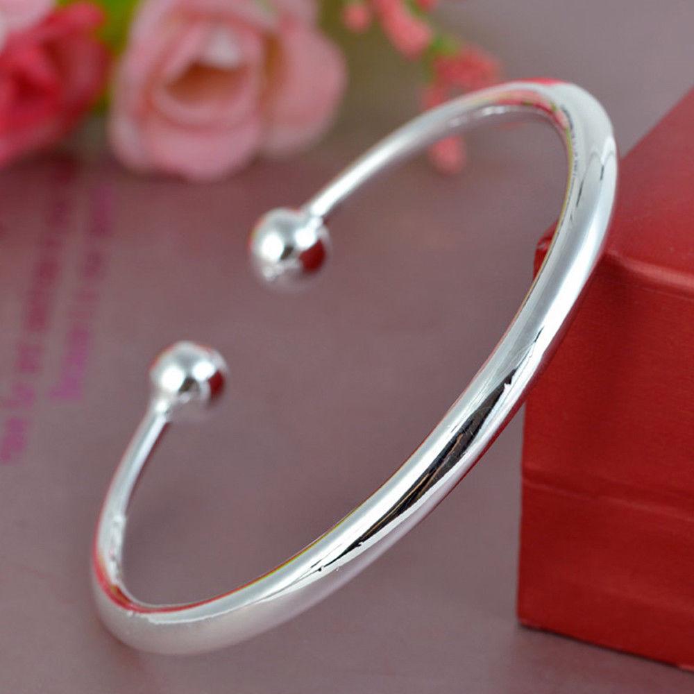 925 Sterling Silver Bangle Bracelet £3.79 wisdom-box / Ebay