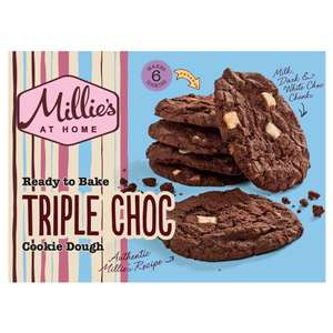 Millie's Cookies Ready To Bake Triple Chocolate Dough 6 Pack 192g