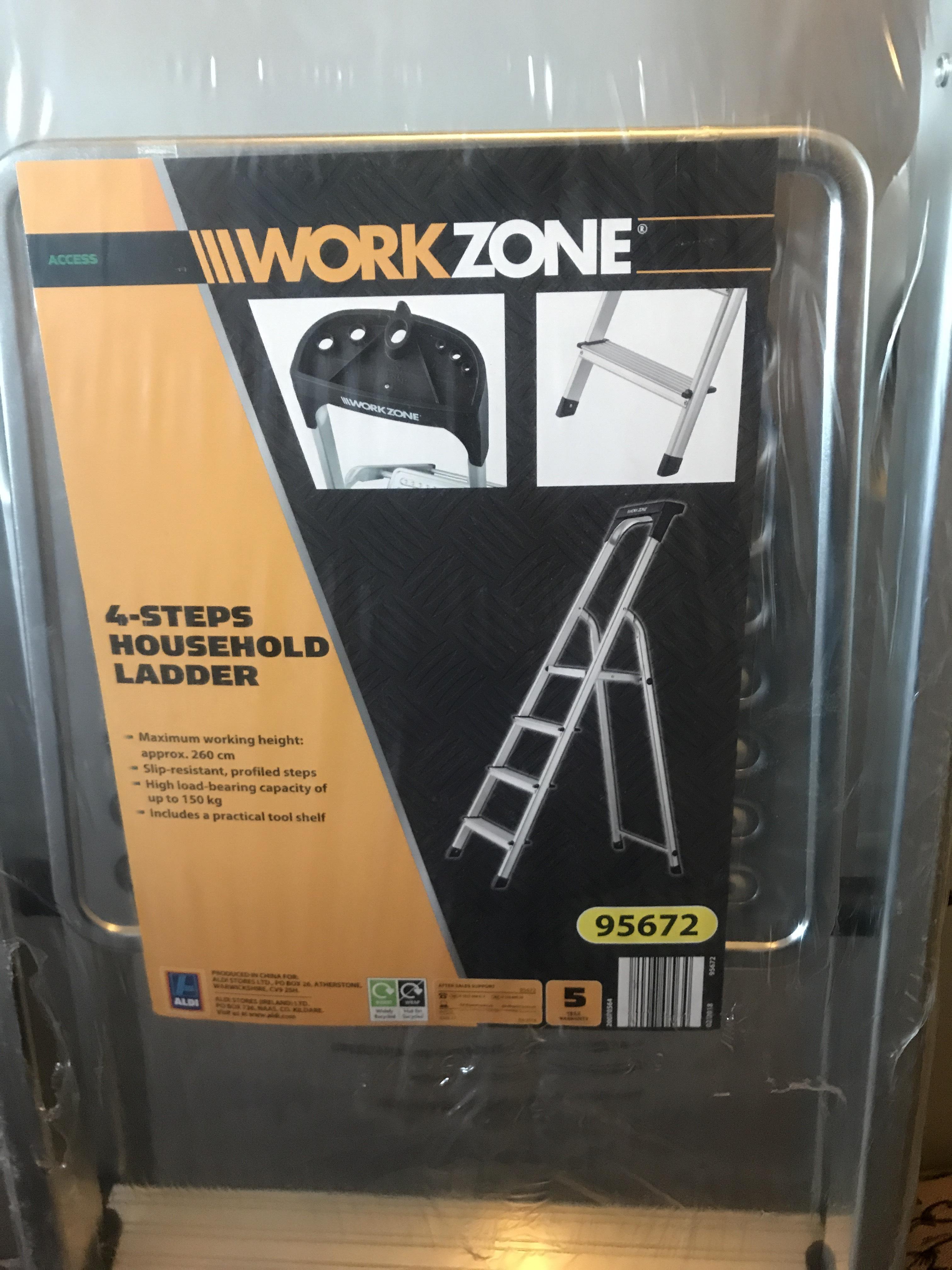 4 step ladder from Aldi - £14.99 instore (Lichfield)