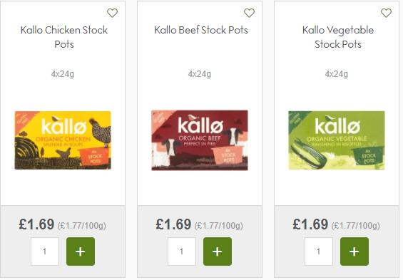 free kallo stock pots with CheckoutSmart @ Major Supermarkets - £1.69