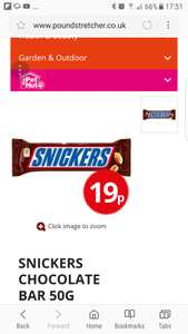 snickers for 19p @ poundstretcher loads more chocolate offers see description