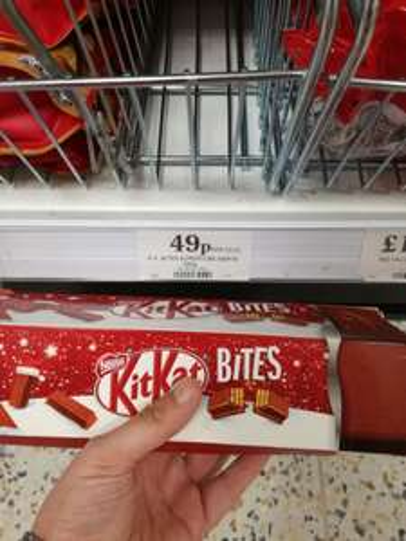 Kit Kat bites supertube of three 81g bags @ home bargains for £0.49