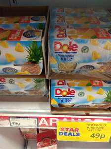 4 pack Dole Pineapple in Juice (4 x 113g)  - 49p @ Poundstretcher