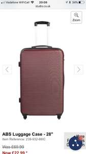 ' ABS luggage case available in 3 colours - currant/ black/ twilight blue - £22.99 + £5 P&P @ Studio