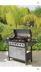 Deluxe 6 Burner Gas BBQ with Cover £229.99 @ Argos