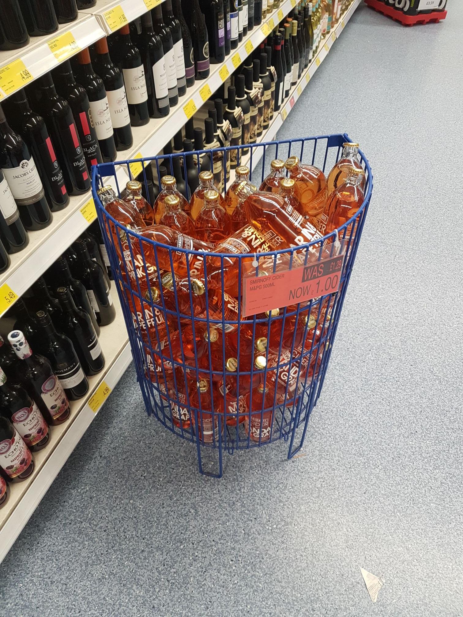 Smirnoff Cider Mandarin And Pink Grapefruit 500Ml £1 @ B&M North Shields
