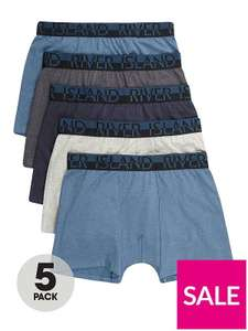 5 x pack of River Island boxer shorts at Very - £12