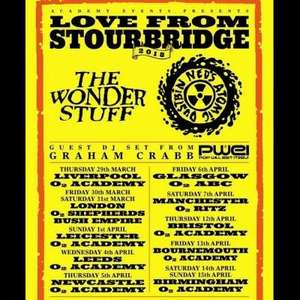 The Wonder Stuff & Neds Atomic Dustbin tour - tickets from £7.50 + 50p booking fee + £2.75 postage at Ticketmaster