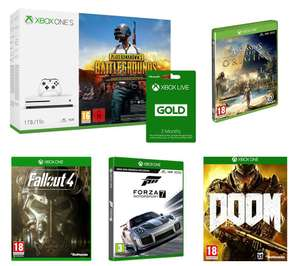 MICROSOFT Xbox One S, PUBG, Forza Motorsport 7, Assassin's Creed Origins, Fallout 4, Doom & Xbox LIVE Gold Bundle