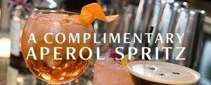 Free Aperol Spritz Cocktail @ Browns (Newsletter sign up)