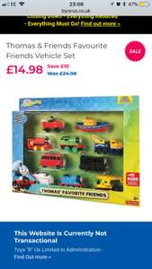 Set of 10 Thomas and Friends Metal Trains £10.50 INSTORE ONLY Toys R Us
