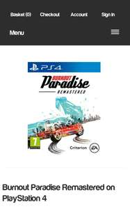 Burnout Paradise Remastered on PlayStation 4 - £24.85 @ Simply Games