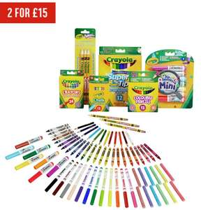 Crayola 70 Piece Stationery Set normally £11.99 each but now 2 for £15. From Argos.