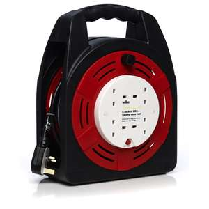 Wilko 4 Socket 13amp Case Reel 20m £15 reduced from £20 @ Wilko C+C