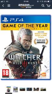 Witcher 3 GOTY PS4 - £16.99  (Prime) / £18.98 (non Prime) at Amazon