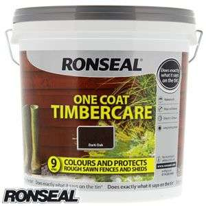 Ronseal One Coat Timbercare: Dark Oak 9 Litre £5.99 C+C @ Home Bargains