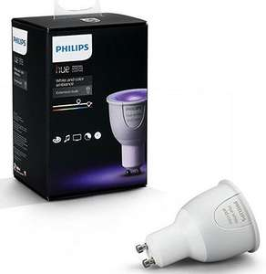 Philips Hue GU10 White and Colour Ambience Wireless bulb down to £39.49 at Amazon, with 3 for 2 offer comes out to £26.32