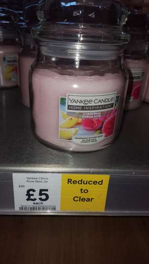 Medium Citrus Rose Yankee candle £5 at Tesco instore