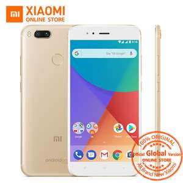 Global Version Xiaomi Mi A1 MIA1 Mobile Phone 4GB 32GB Snapdragon 625 Octa Core 12.0MP+12.0MP Dual Camera Android One FHD Screen £119.72 GOLD @ xiaomi online store /aliexpress