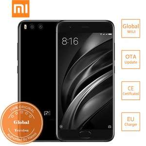 [HK Stock][Official Global Version]Xiaomi Mi6 5.15 Inch 4G LTE Smartphone 6GB 64GB Snapdragon 835 12.0MP Cam Android 7.1 NFC Dual Rear Cam Four-sided Curved 3D Glass Body - Black £268.80 @ geekbuying