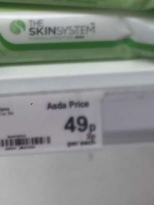Asda robroyston 49p instore - own make  The Skin System wipes