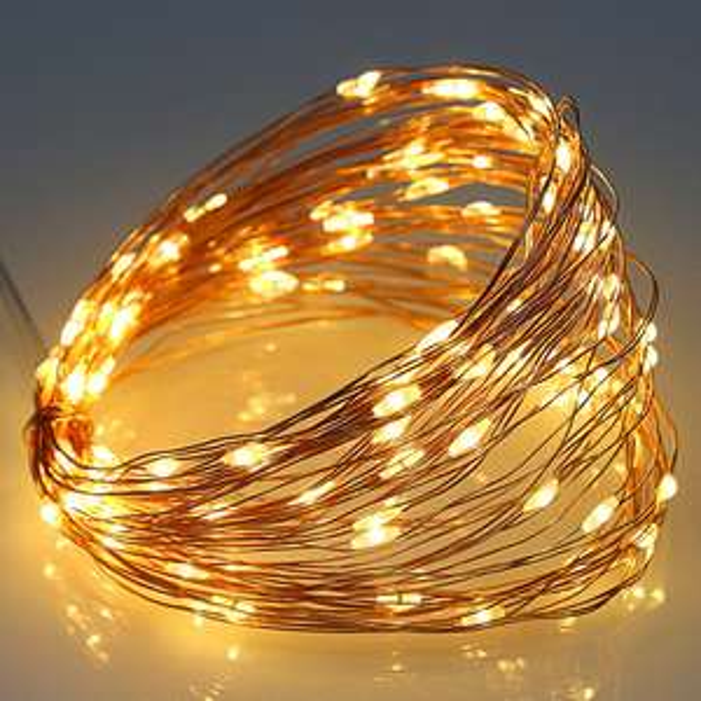 5V 6W 10m Copper Wire 100 LEDs USB Decoration String Lights - Warm White £1.77 Del w/code @ RoseGal