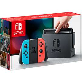 Nintendo Switch Neon with Mario & Rabbids + The Legend of Zelda - BOTW + £5 Deliveroo Credit £319.99 - GAME