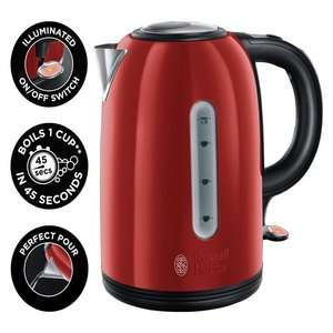Russell Hobbs 20445 Westminster Stainless Steel Kettle - Red / Black / Cream +  3 Year Guarantee £19.99 @ Argos