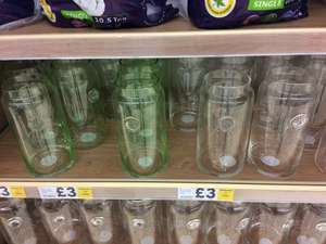 Tesco In Store Deal Northampton  Large Glass Flower Vases Reduced to £3 Green or Clear
