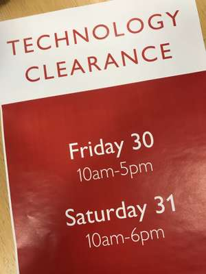 John Lewis Newcastle Technology End of Year Clearance Event