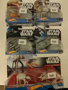 Star Wars Hot Wheels £2.49 for one £3.99 for two pack in Forbidden Planet In-Store