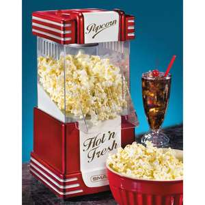 Retro Hot Air Popcorn Maker Misprice listed as £0.00(+£3.99 Del) at Prezzybox