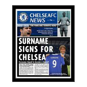 Personalised Chelsea FC News MISPRICED £0.0 (+£3.99 del) @ Prezzybox