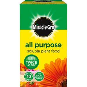 Miracle-Gro All Purpose Soluble Plant Food Carton £3.19 for 1 kg @ Amazon - add on item or buy 7 for free postage