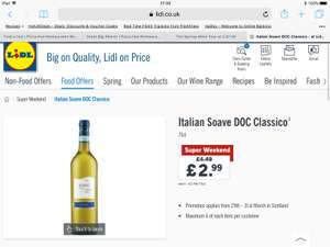 Soave wine £2.99 at Lidl