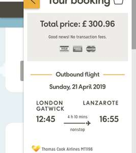 Kids hols Easter '19 - London to Lanzarote £300.96 for one adult and child @ Thomas Cook