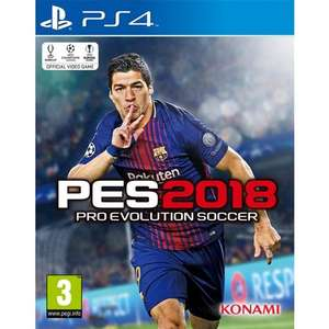 PES 2018 new £19.95 or like new £18.95 @ TGC