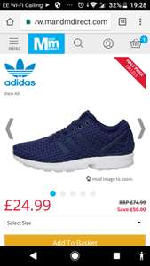 adidas Originals Mens ZX Flux Trainers Dark Blue/Dark Blue/White - £24.99 @ MandM Direct (£4.49 P&P)