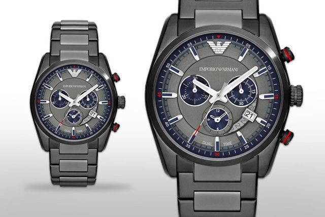 Men's Steel Emporio Armani AR6037 Watch £154.99 via Wowcher