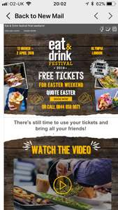 FREE Ideal Home/Eat & Drink show tickets