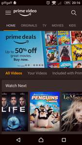 Amazon video sale (prime members only)