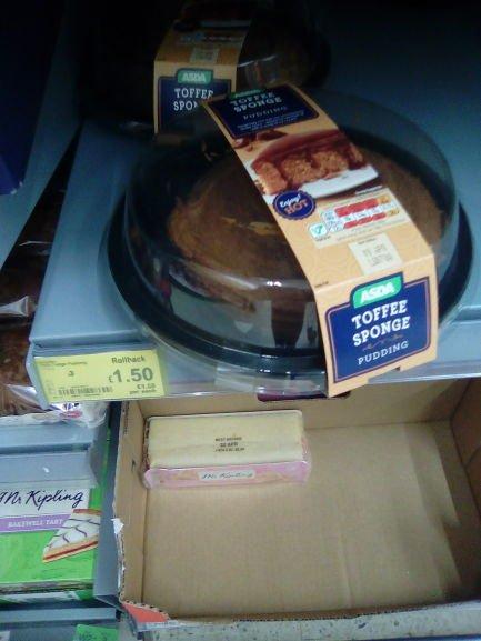 Asda Large Toffee Sponge pudding £1.50 @ Asda instore