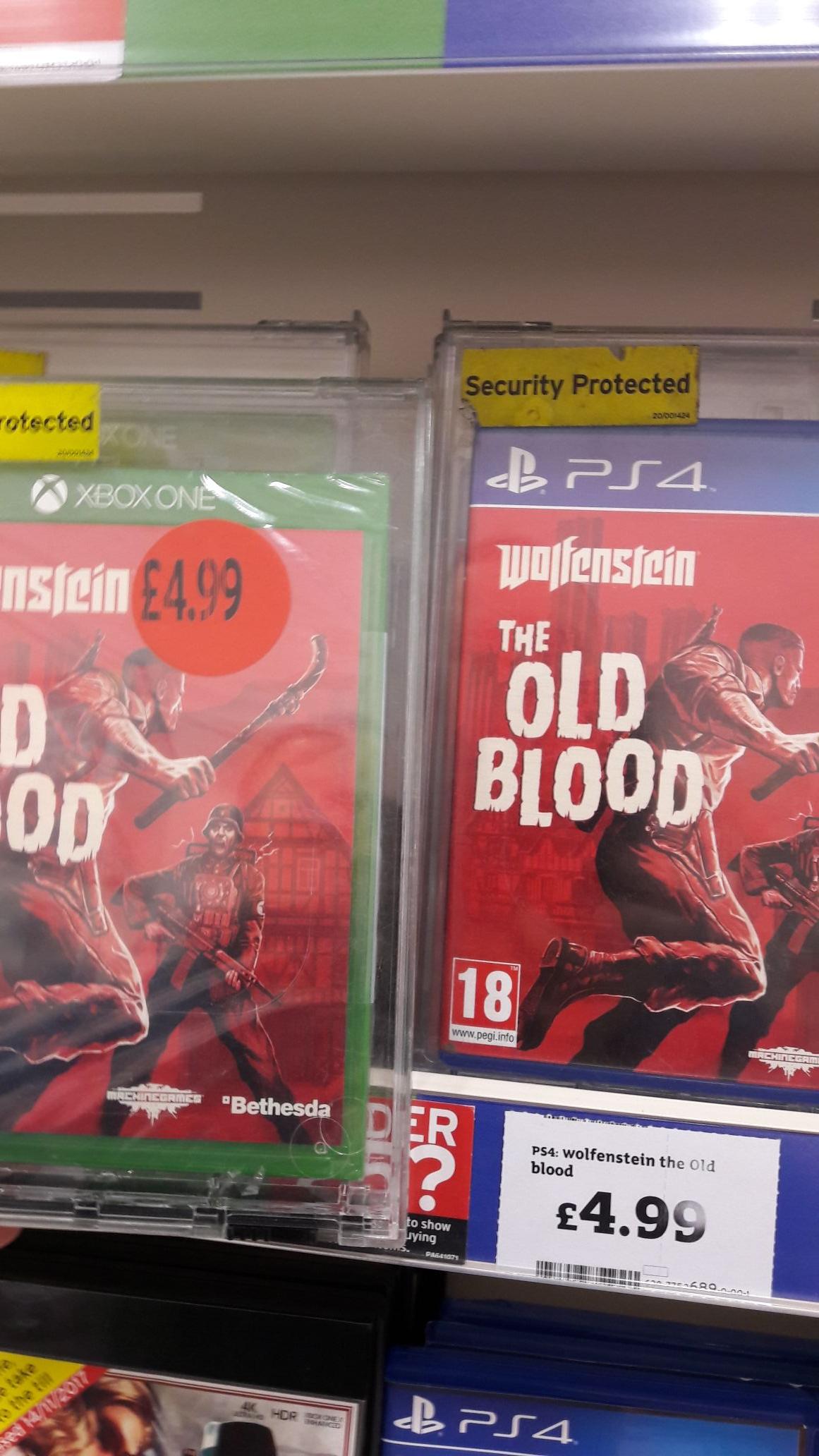 Wolfenstein: The Old Blood £4.99 Mafia 3 £7.99 @ Sainsburys