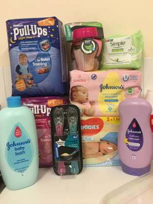 Selected multiprice baby/toddler items reduced to £1 including x3 multipack huggies wipes x3 multipack johnsons baby wipes - tommee tippee weening spoons/trainingmug, 750ml johnsons items​ at poundland​
