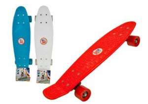 "70's Style Skateboard 22"" with Matching Coloured Wheels & Grippable Board Design reduced to £8.06 Delivered @ CPC"