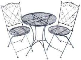 2 Seater Garden Bistro Set - Brushed Silver Finish £38.54 @ CPC