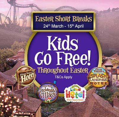 Hotel + 2 day Theme park - Kids Go Free £219 @ Alton Towers