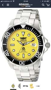 Invicta Grand Diver Automatic Yellow Mens watch sold by Amazon US £67.61